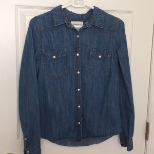Forever 21 denim jacket with pearl buttons